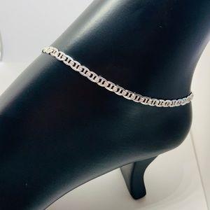 """Jewelry - Sterling Silver 925 Ankle Bracelet 10"""""""
